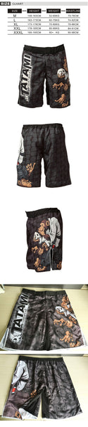 WKO 10007 Black boxing training pants breathable mma Muay Thai shorts
