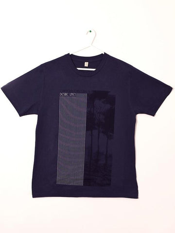 Mens 'Desire Lines' t-shirt Blue