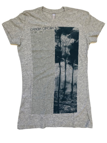 Ladies grey 'Desire Lines' t-shirt
