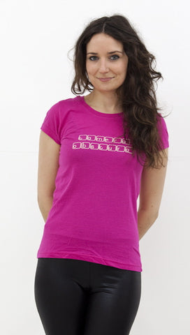 Ladies pink 'Computer'  t-shirt