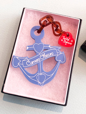 "Tatty Devine ""French Navy"" Anchor Brooch"