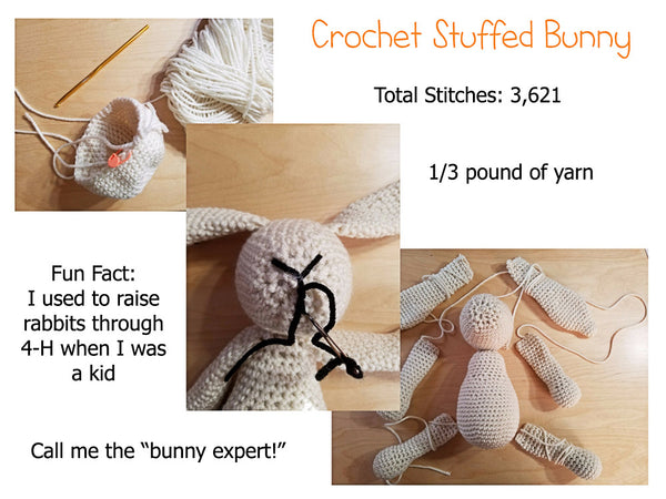 Cream Crochet Stuffed Bunny