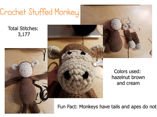 Crochet Stuffed Monkey