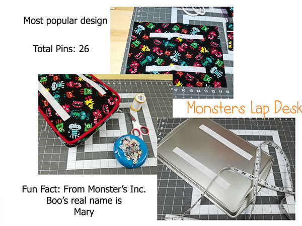 In the making of the monsters lap desk