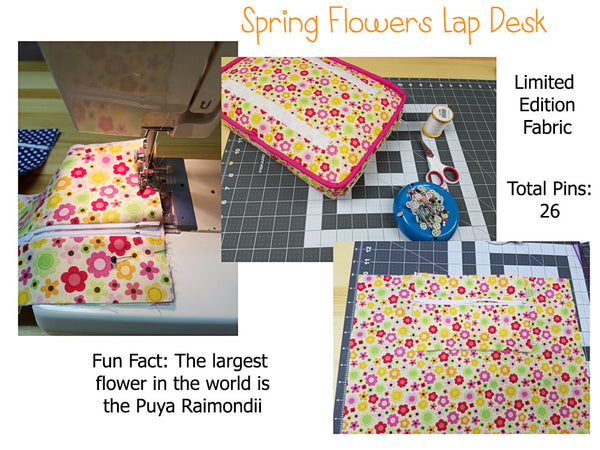 Flowers lap desk