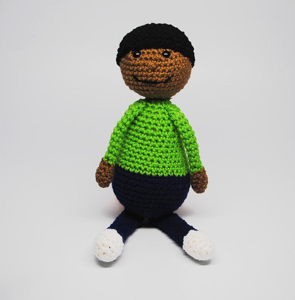 KidEssenceShop: Crochet Dolls - African American Boy Doll