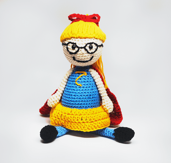 KidEssenceShop: dolls - Crochet SuperGirl Doll in Blue