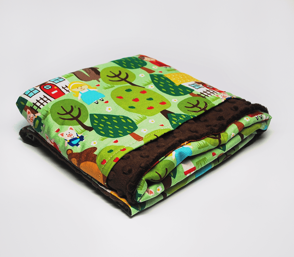 KidEssenceShop: Baby Blanket - Into The Forest Minky Baby Blanket