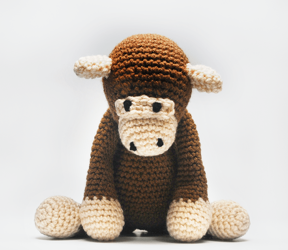 KidEssenceShop: Baby Toys - Crochet Stuffed Monkey