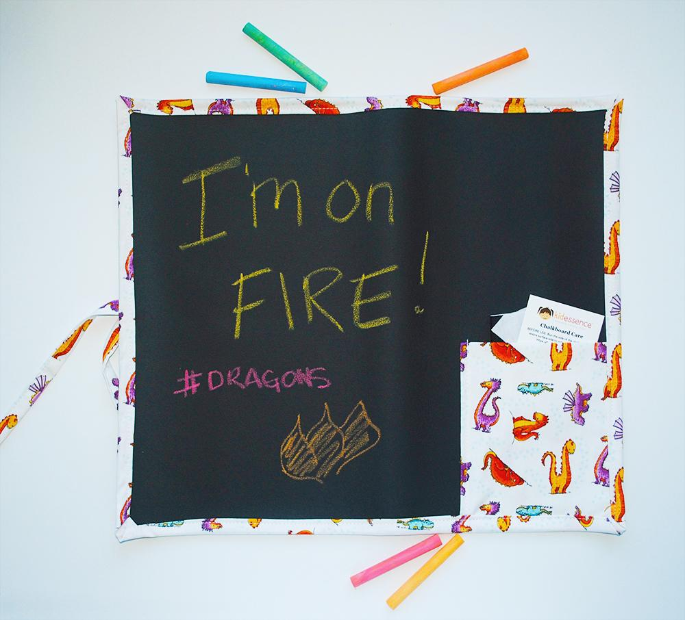 KidEssenceShop: Travel Toys - Dragons Travel Chalkboard