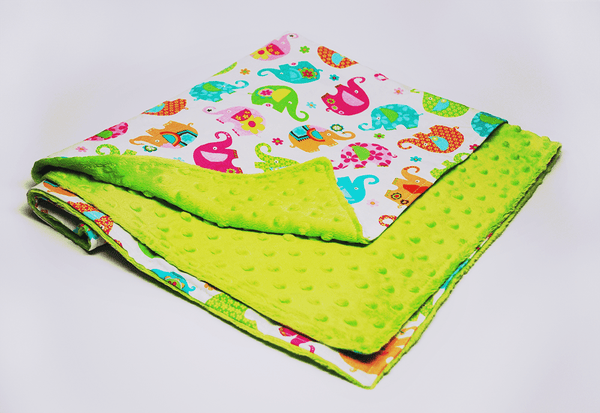 KidEssenceShop: Baby Blanket - Minky Baby Blanket with Elephants