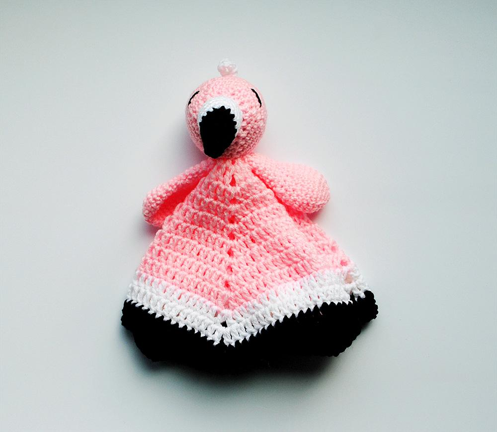 Flamingo Lovey toddler gift flamingo baby  lovey security blanket 16 inches x 16 inches flamingos nursery minky girl baby shower gift