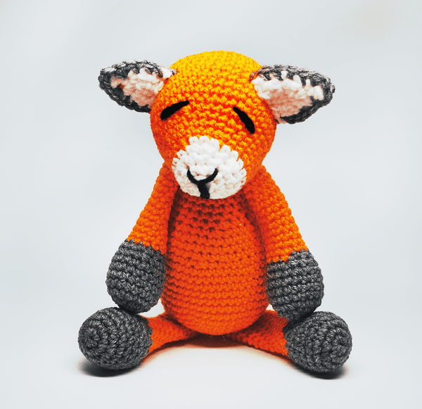 KidEssenceShop: Baby Toys - Crochet Stuffed Fox