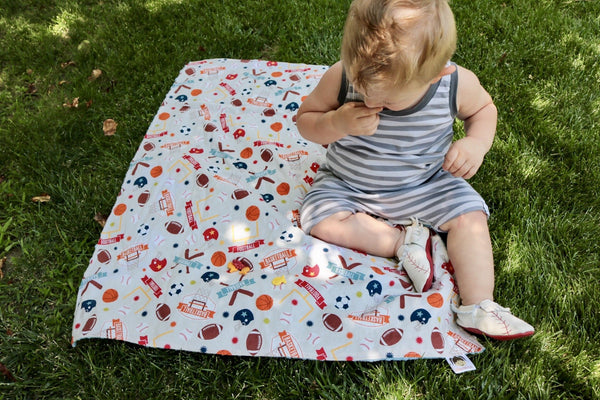 KidEssenceShop: Baby Blanket - Minky Blanket in Sports