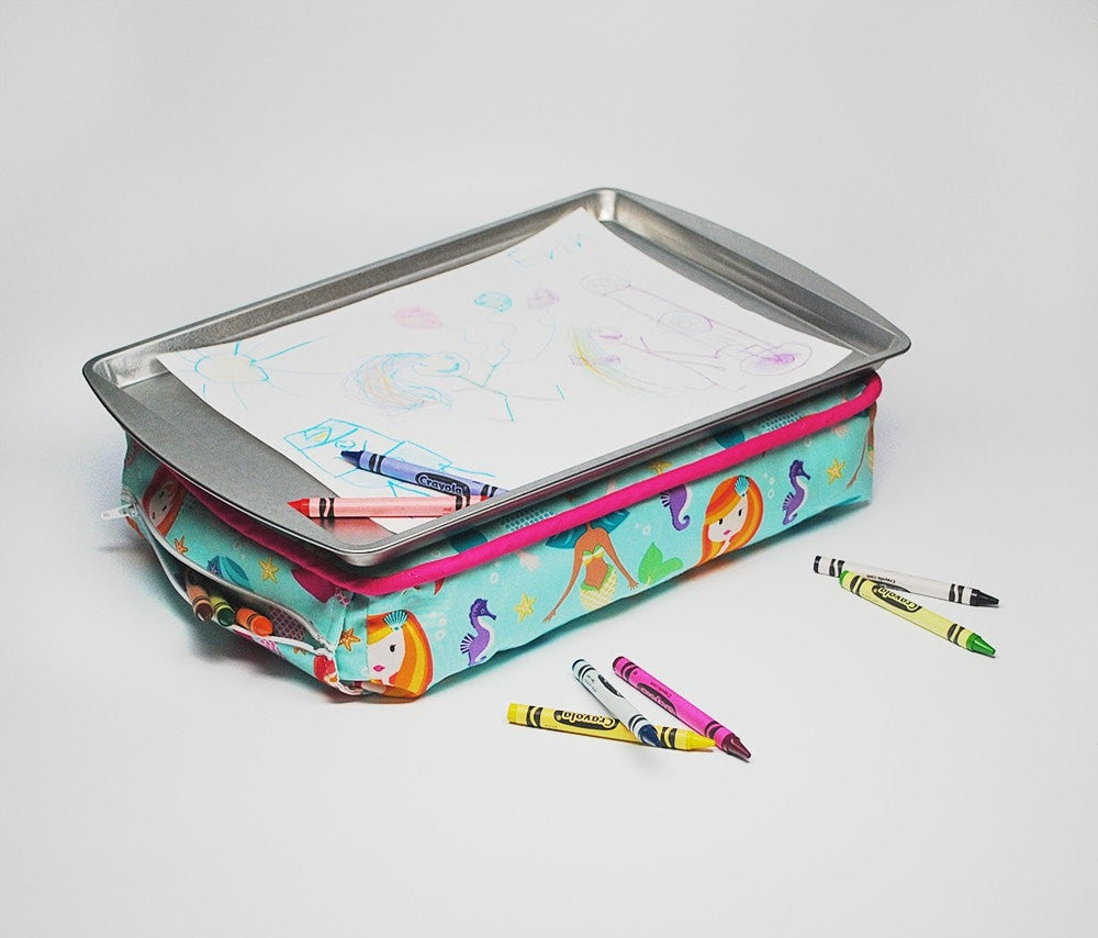 KidEssenceShop: Travel Toys - Kid's Lap Desk in Mermaids