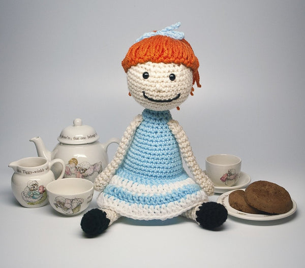 KidEssenceShop: dolls - Red Head Doll in Blue Dress