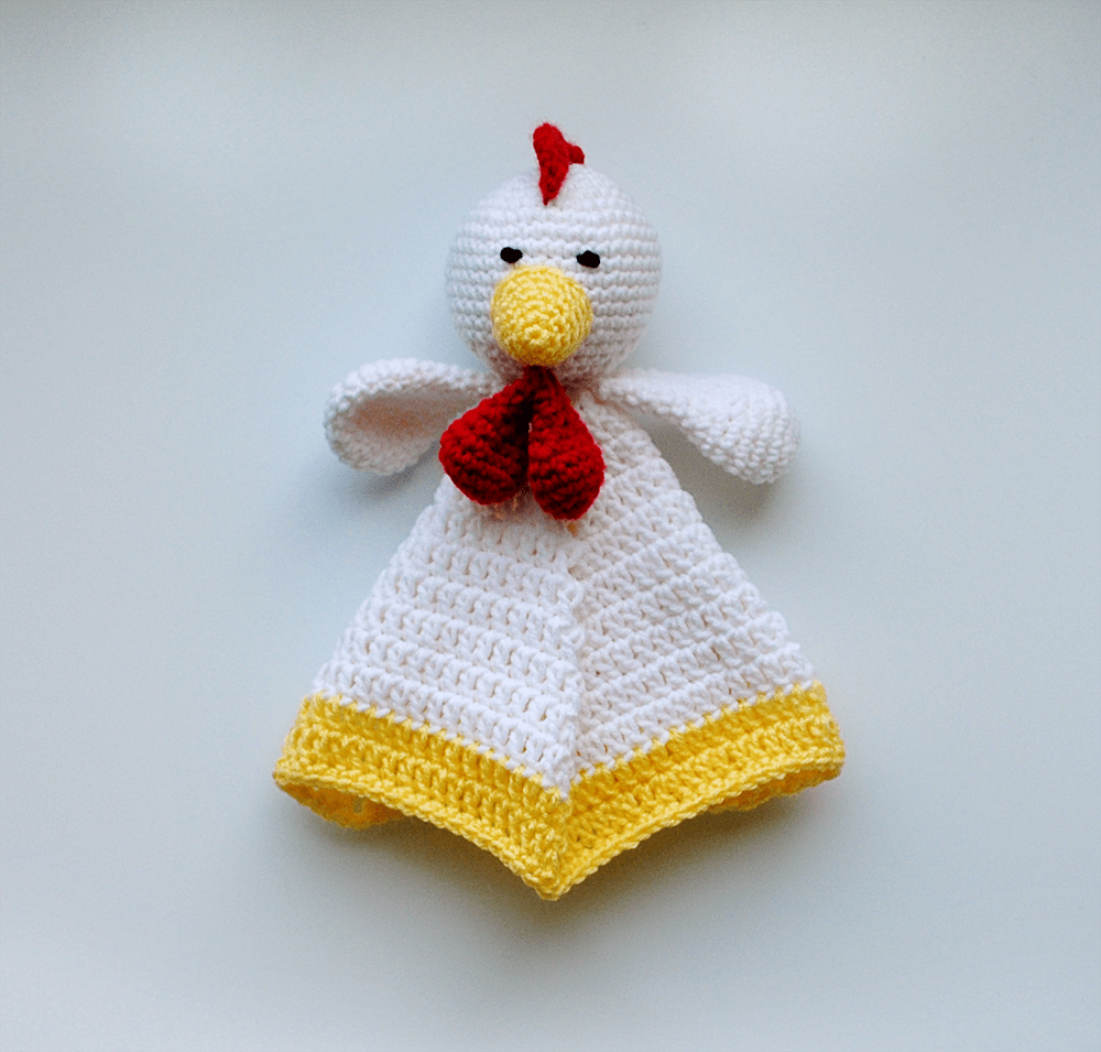 Rooster Lovey Baby Blanket - KidEssence