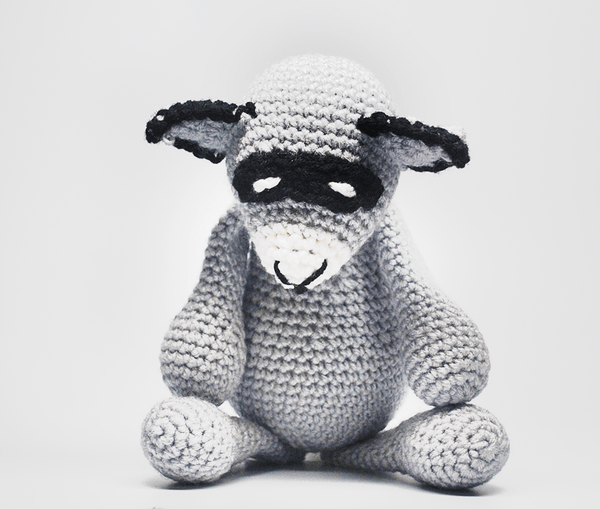 Crochet Stuffed Raccoon - KidEssence