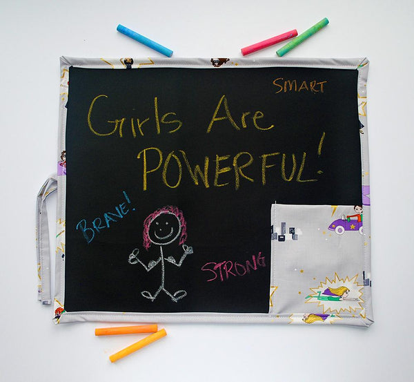 KidEssenceShop: Travel Toys - Super Girl Travel Chalkboard