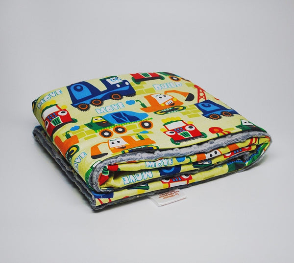 KidEssenceShop: Baby Blanket - Minky Baby Blanket in Trucks