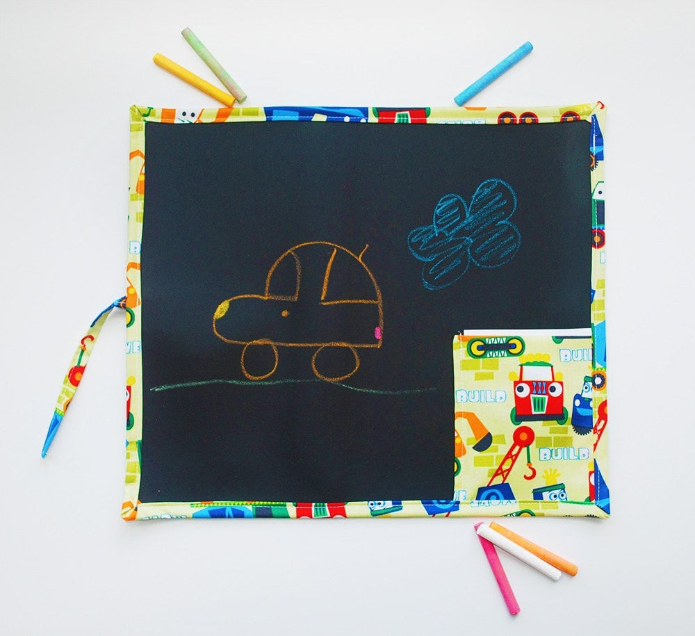 KidEssenceShop: Travel Toys - Kid's Travel Chalkboard in Trucks
