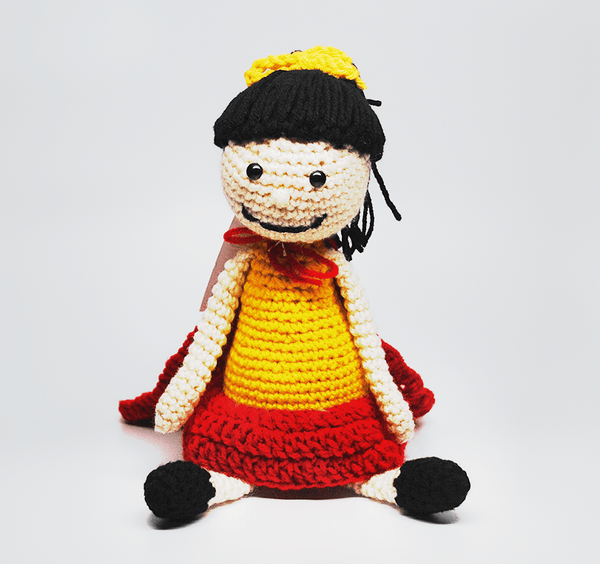 KidEssenceShop: dolls - Crochet Super Girl Doll in Yellow