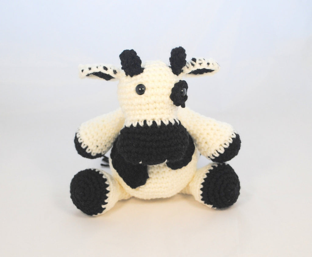 Crochet Stuffed Cow - KidEssence