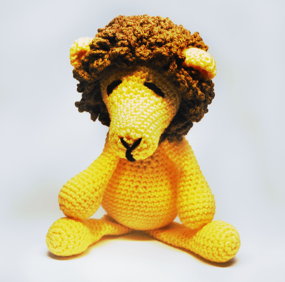 KidEssenceShop: Baby Toys - Crochet Stuffed Lion