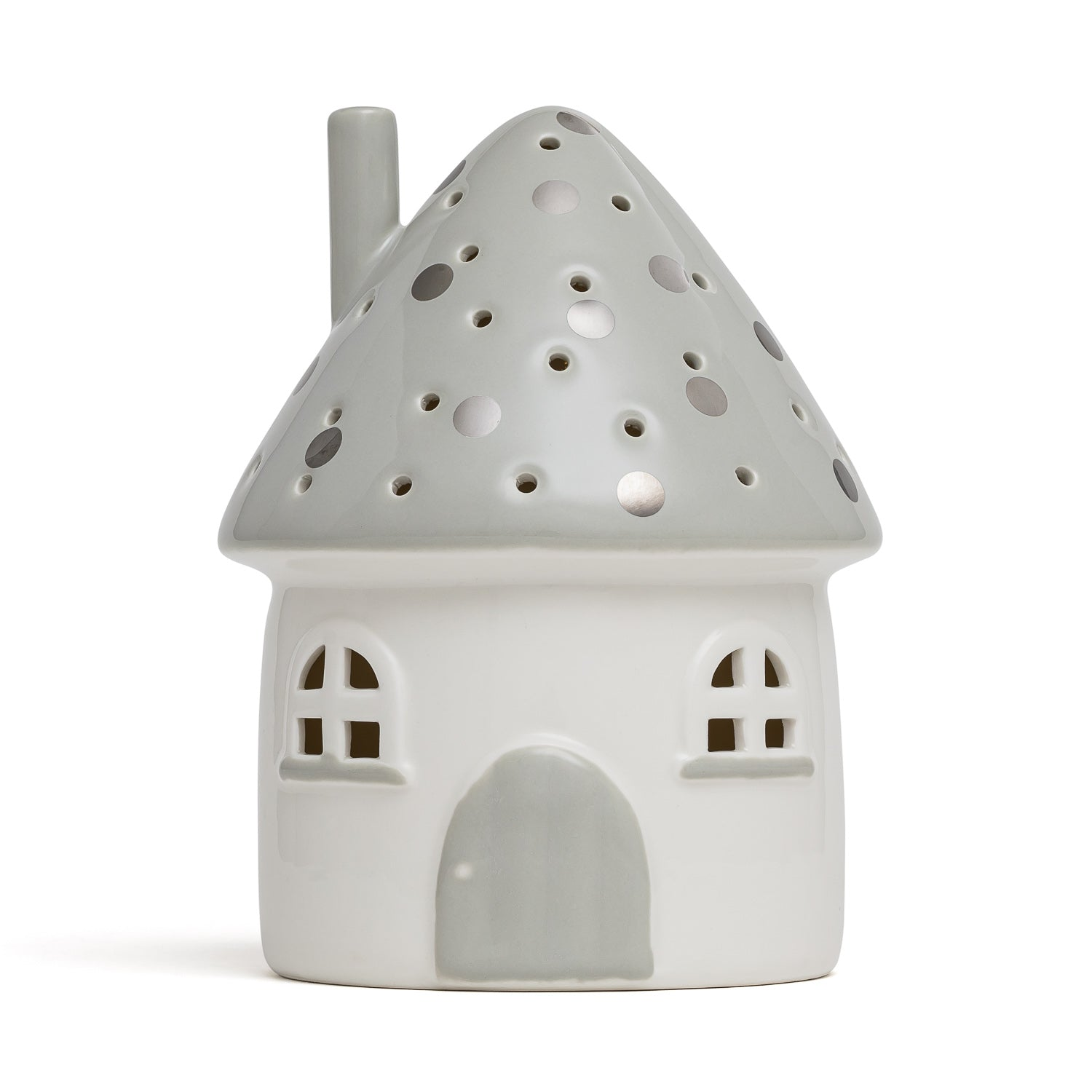 Elfin House Nightlight Grey Handmade AU
