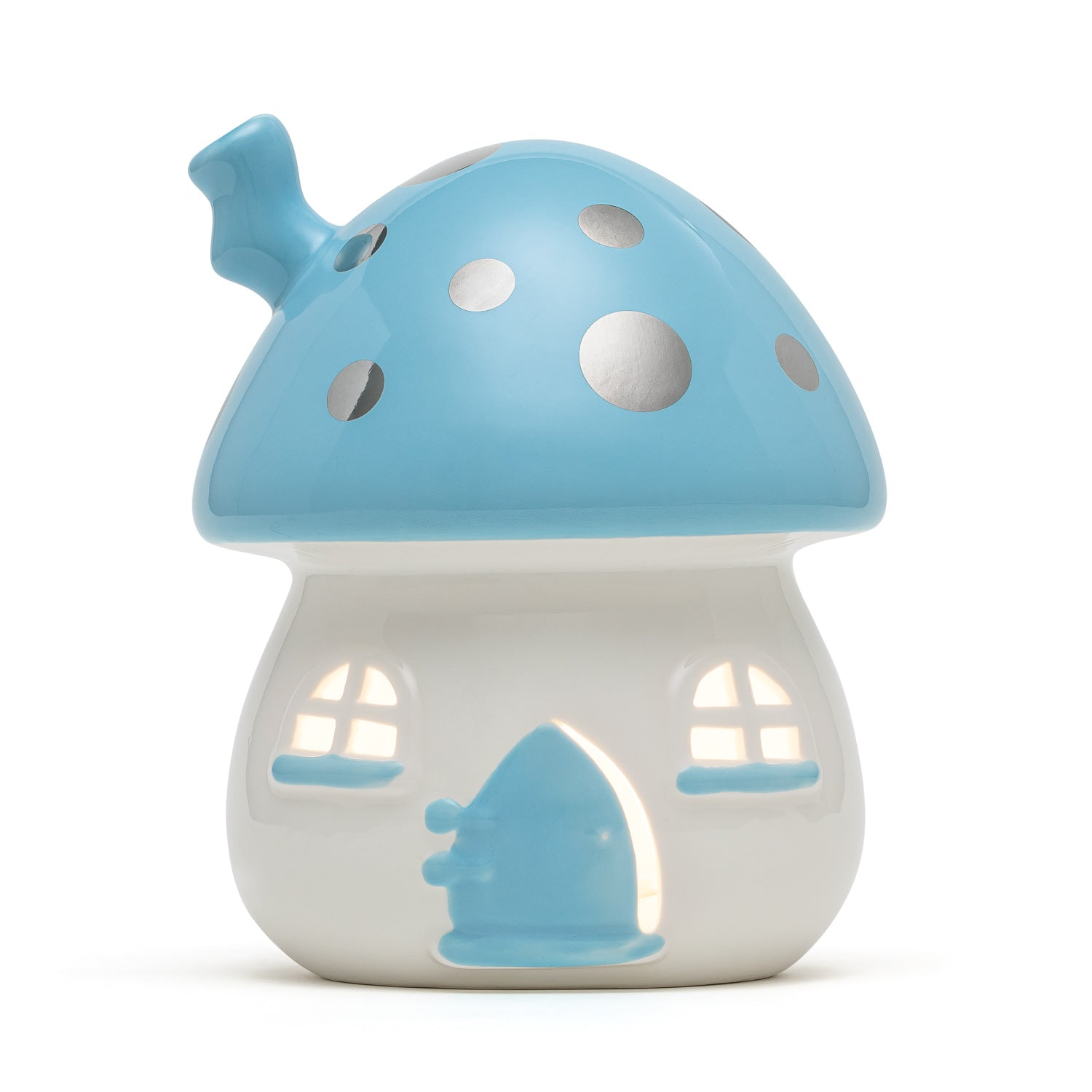 Little Belle Fairy House Nightlight - Blue & Silver [Plug-in]