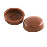 Snapcaps Screw Covers & Flat Bottom Washers Chocolate 6/8 Gloss - Pack of 25