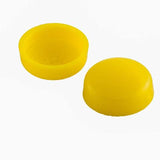 Snapcaps Screw Covers & Flat Bottom Washers Yellow 6/8 Gloss - Pack of 25