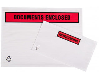 Documents Enclosed Wallets Printed Pack 500