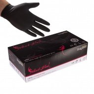 Box of 100 Unigloves Select Black Nitrile Gloves  Sizes Small.Medium,Large.