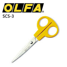 Olfa multi purpose stainless steel serrated edge scissors 160mm