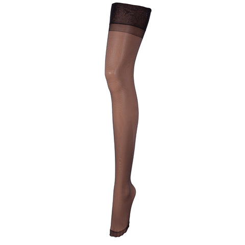 Stockings Plain Leg/Plain Top Black