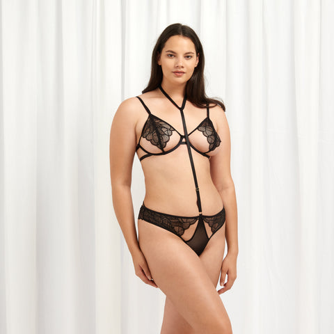 Emerson Harness Panty Black