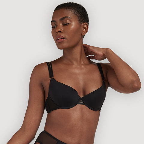 Laura Push-up Plunge Bra Black