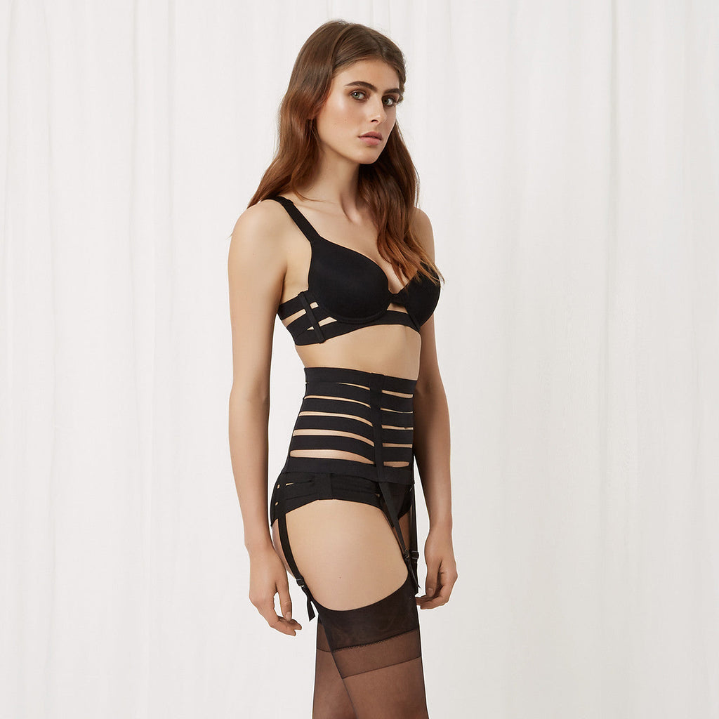 Angelina Suspender Black