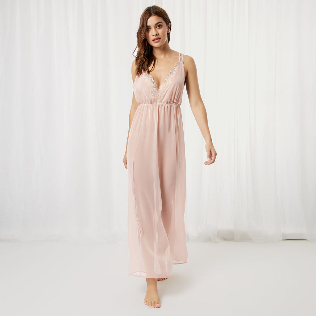 Lily Long Chemise Rose Dust