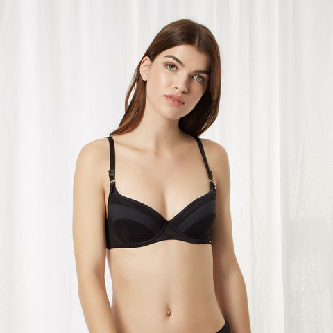 Saffy Wired Bra Black