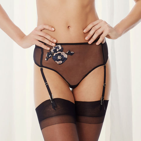 Cerium High-Waist Suspender Thong