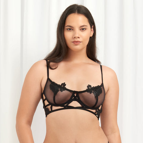 Nikita Closed Bra Black