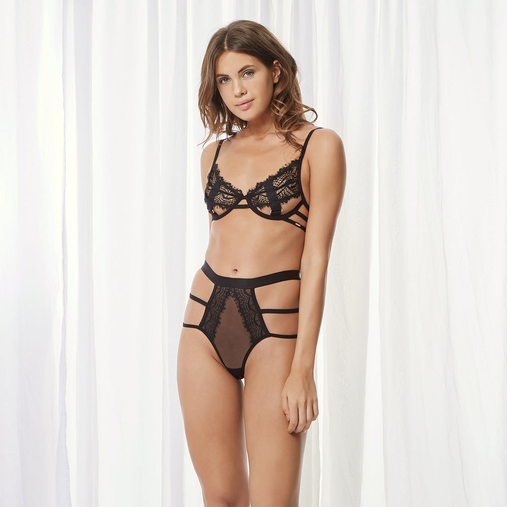 Jude Open Brief with Thong Back Black