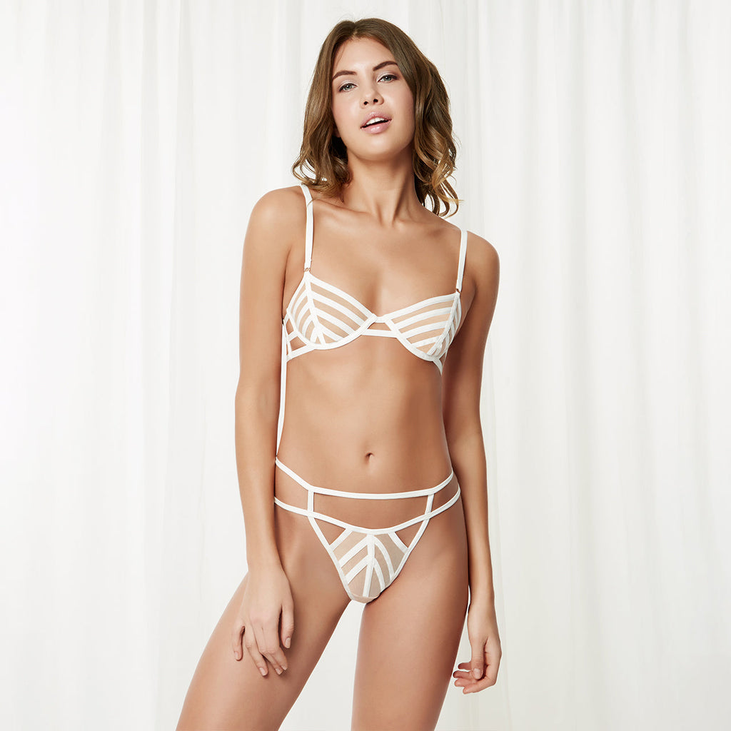 London Bra White