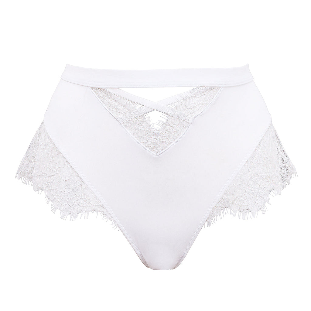 Nyane High-Waist Brief White