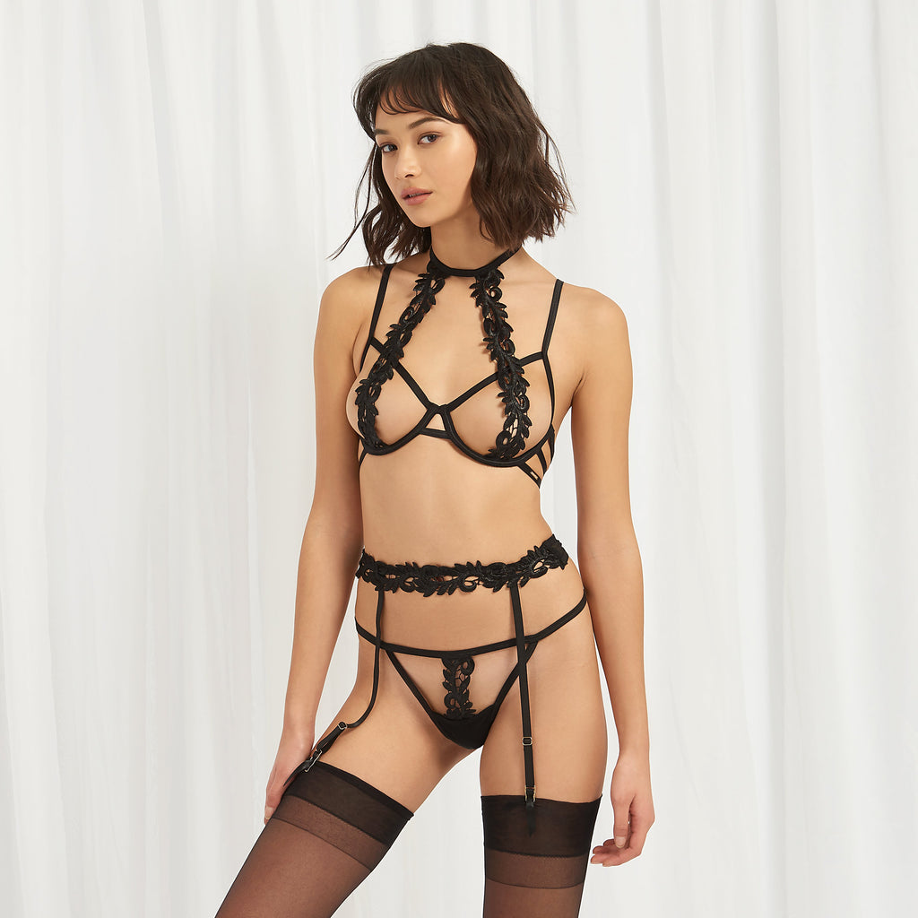 Violetta Suspender Black
