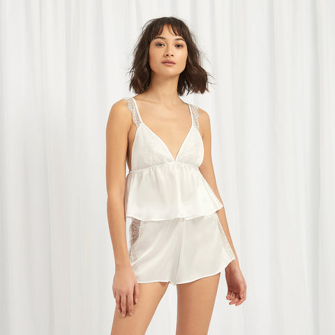 Dahlia Cami and Short Set Ivory