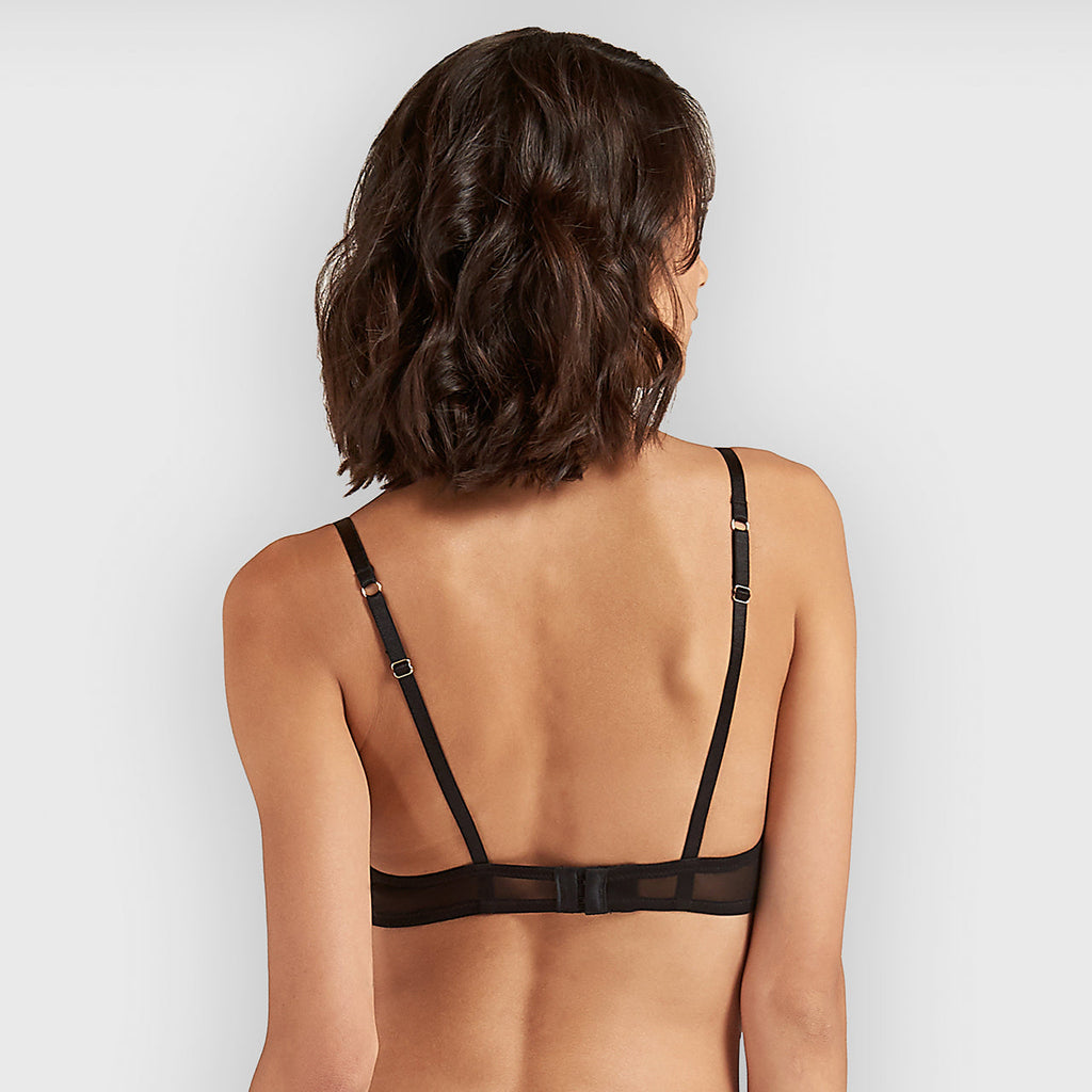 Carson Bra with Detachable Harness Black