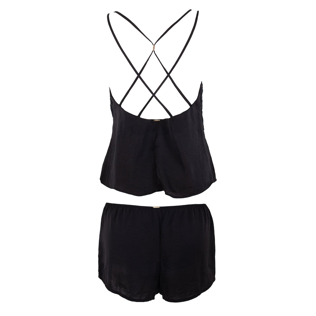 Celia Cami and Short Set Black